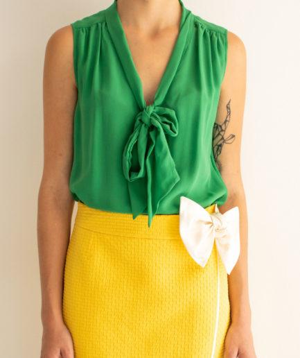 Schluppenbluse Grün