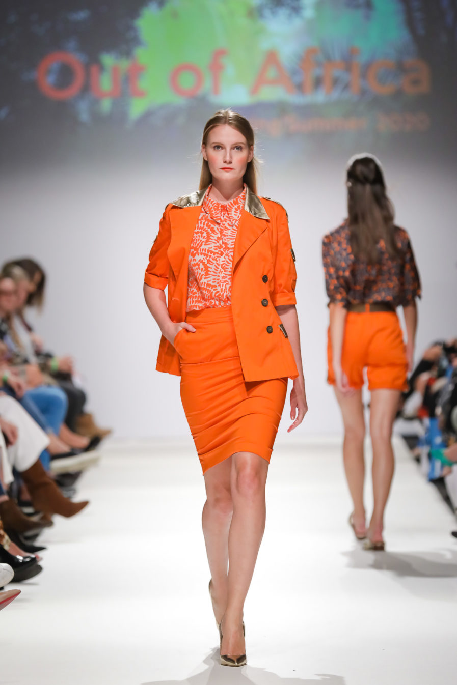 Sommer Blazer Orange-Gold