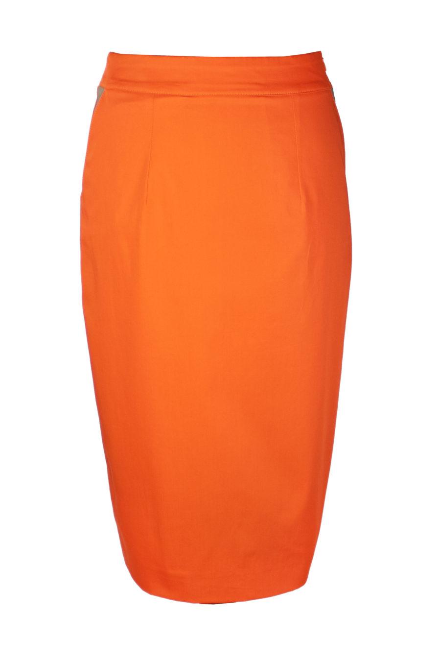 Bleistiftrock Orange-Gold