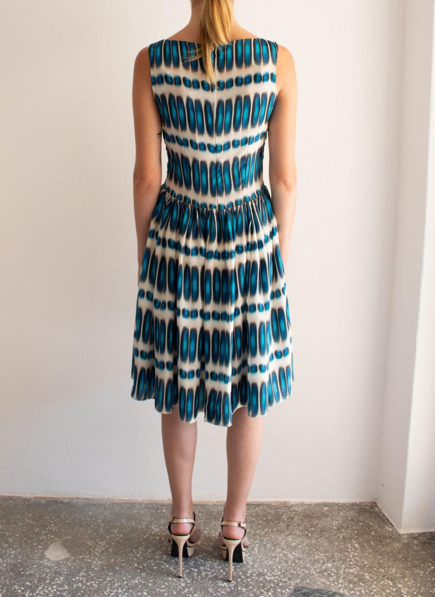 Indy Kleid Blau-Weiß
