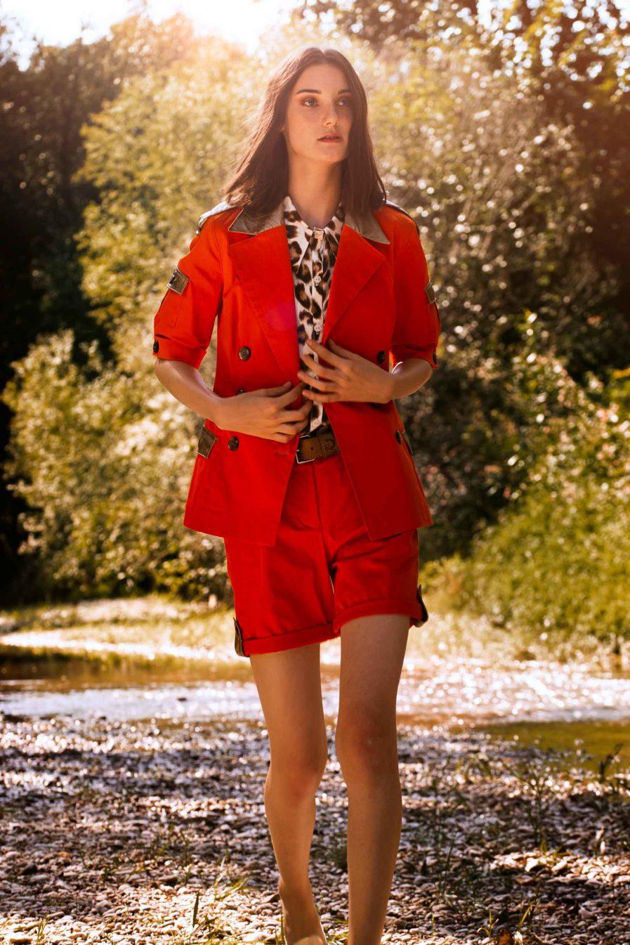 Safari Shorts Orange-Gold