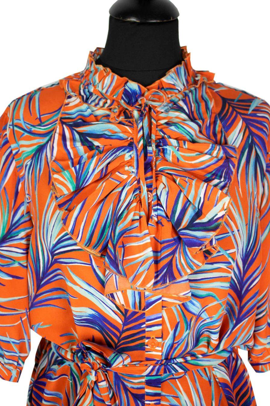 Jabotkleid Orange Jungle