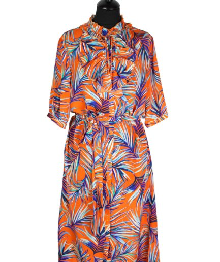 Jabotkleid Orange Jungle
