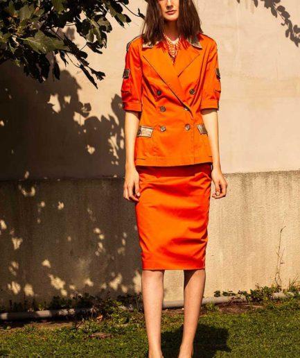 Sommer Blazer Orange-Gold