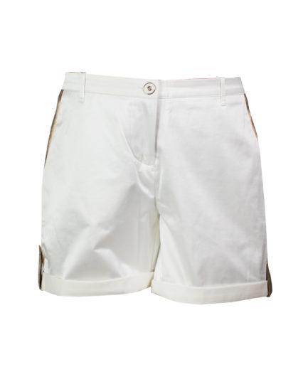 Safari Shorts Weiß-Gold
