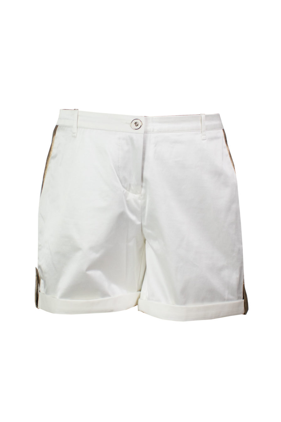 Safari Shorts Weiß-Gold