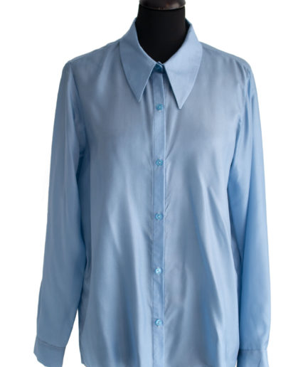 Seidenhemd Blau