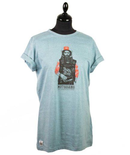 Moto T-shirt Biker Blau