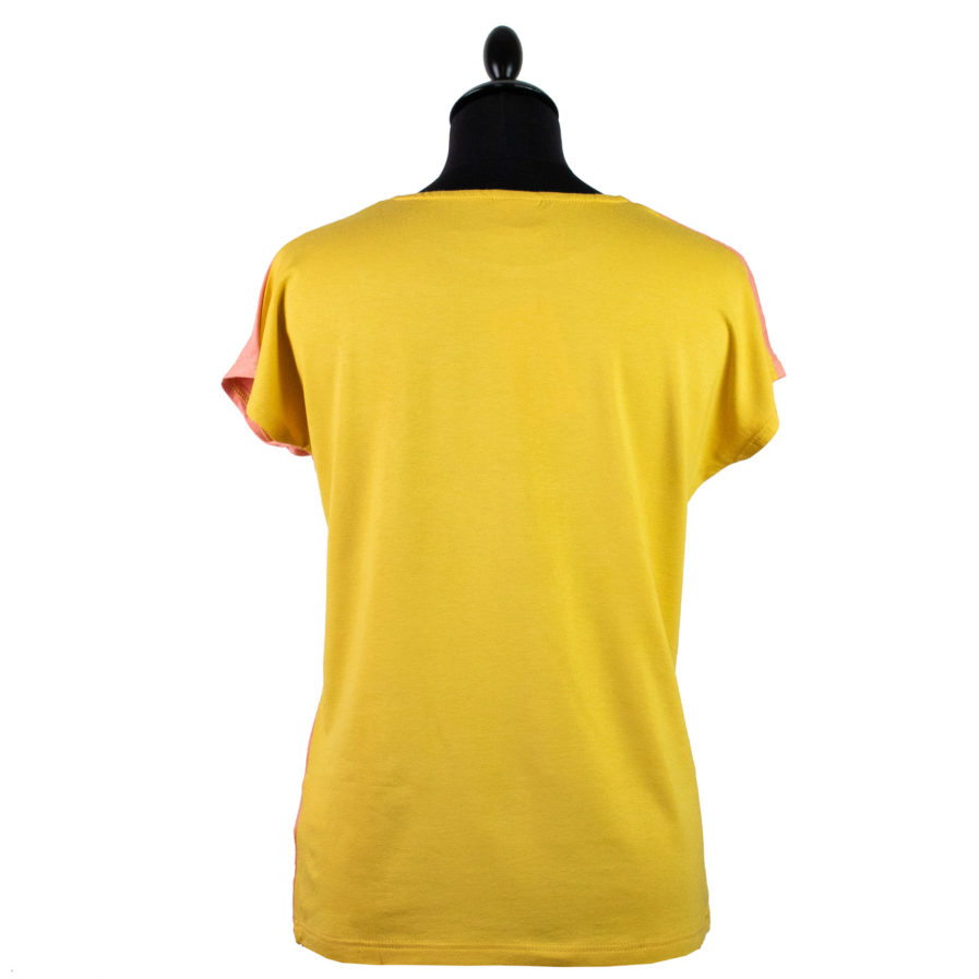 Moto T-shirt Jackalope Rosa-Gelb