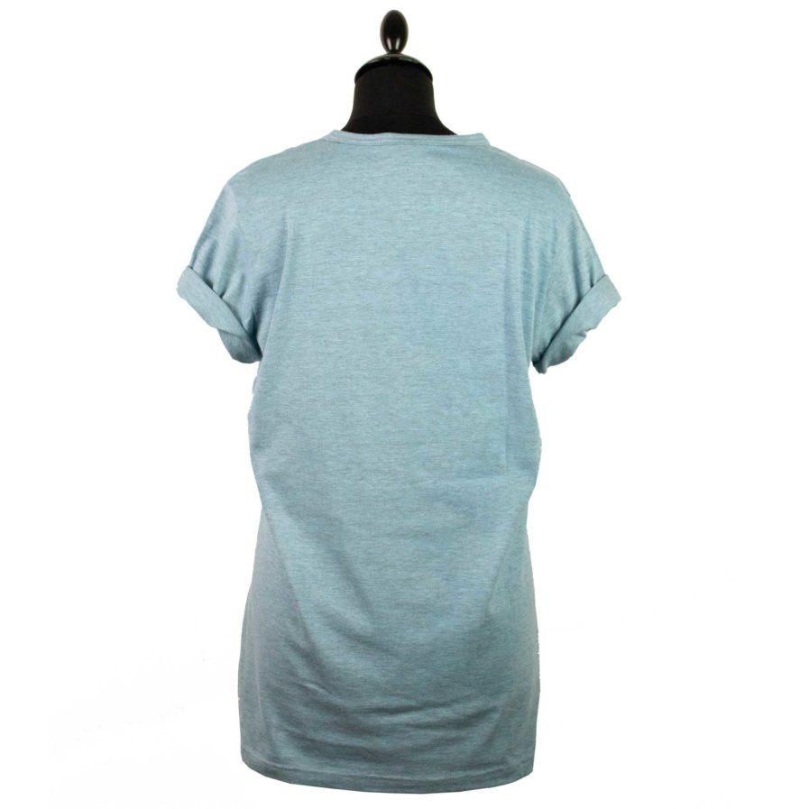 Moto T-shirt Helmet Blau
