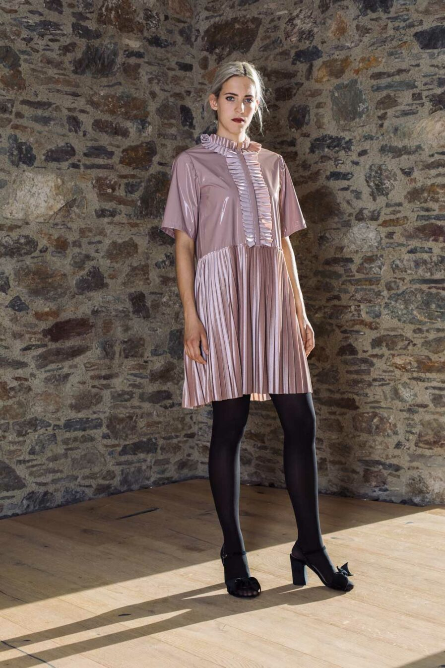 Jabot Kleid Candy Plush