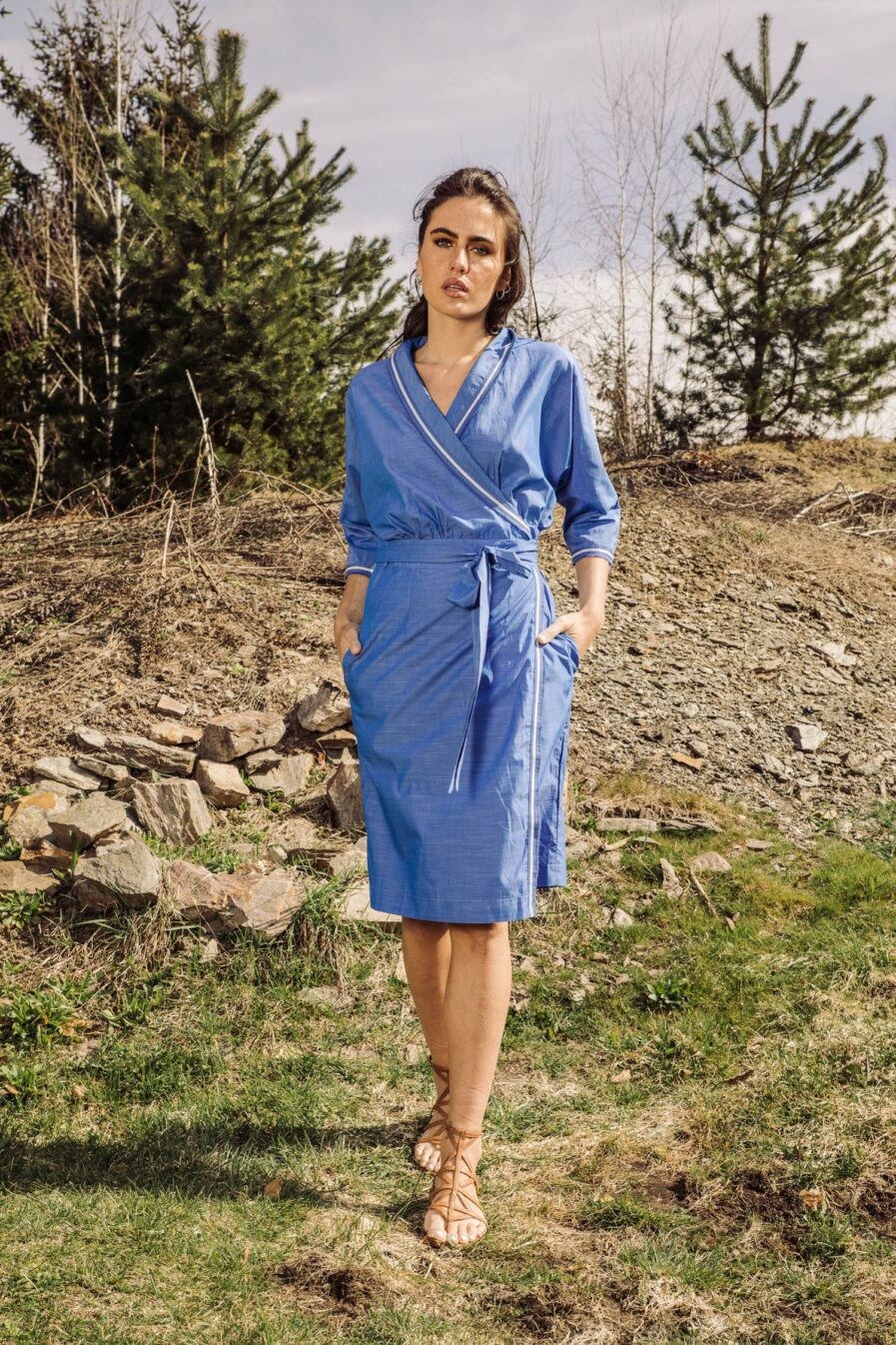 Naomi Wickelkleid Blau