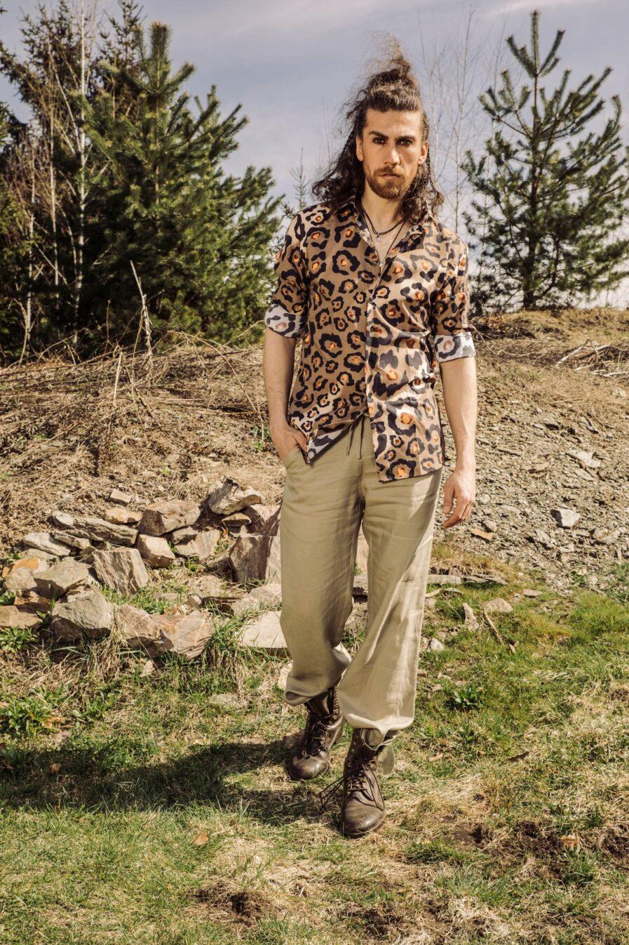 Amalfi Leinenhose Sand_Herrenhemd Leo